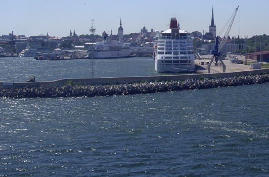 Image: Tallinn panorama from the ferry terminal.