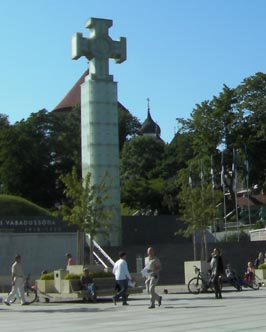 Image: Freedom Square in Tallinn.