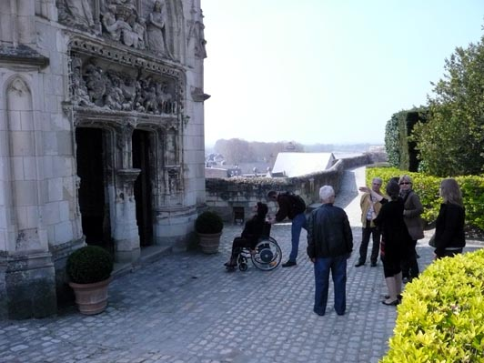 Image: adapted visit the Château d'Amboise.
